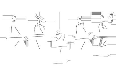 Illustration of family walking, holding hands.